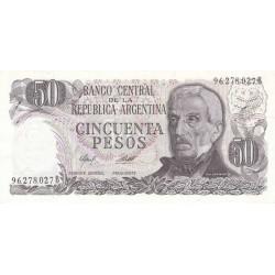 Argentine - Pick 301b2 - 50 pesos - Série B - 1976 - Etat : NEUF