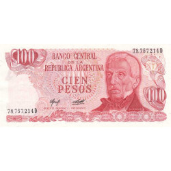 Argentine - Pick 302b - 100 pesos - Série D - 1976 - Etat : SPL+