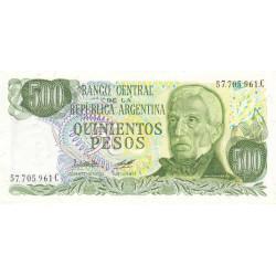 Argentine - Pick 303b - 500 pesos - Série C - 1977 - Etat : NEUF