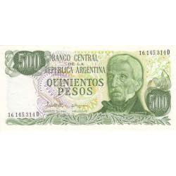 Argentine - Pick 303c - 500 pesos - Série D - 1982 - Etat : NEUF