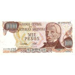 Argentine - Pick 304b_2 - 1'000 pesos - Série F - 1976 - Etat : SUP