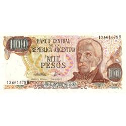 Argentine - Pick 304c_2 - 1'000 pesos - Série H - 1978 - Etat : SPL