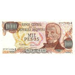 Argentine - Pick 304d1 - 1'000 pesos - Série H - 1980 - Etat : NEUF