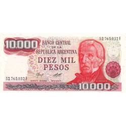 Argentine - Pick 306a2 - 10'000 pesos - Série F - 1976 - Etat : NEUF