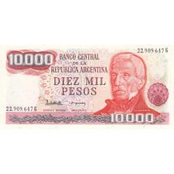 Argentine - Pick 306b - 10'000 pesos - Série G - 1983 - Etat : NEUF