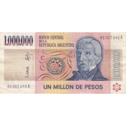 Argentine - Pick 310_2 - 1'000'000 pesos - Série A - 1981 - Etat : TTB