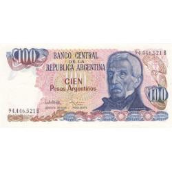 Argentine - Pick 315_2 - 100 pesos argentinos - Série B - 1983 - Etat : NEUF