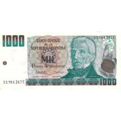 Argentine - Pick 317a2 - 1'000 pesos argentinos - Série C - 1984 - Etat : NEUF
