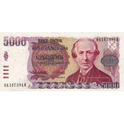 Argentine - Pick 318 - 5'000 pesos - Série A - 1984 - Etat : SPL