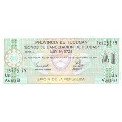Argentine - Pick S 2711 - 1 austral - Série C - Loi 1988 - Etat : NEUF