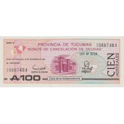 Argentine - Pick S 2715 - 100 australes - Série G - Loi 1989 - Etat : NEUF