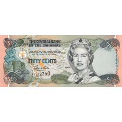 Bahamas - Pick 68 - 1/2 dollar - 2001 - Etat : NEUF