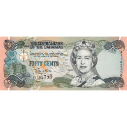 Bahamas - Pick 68 - 1/2 dollar - Série A - 2001 - Etat : NEUF
