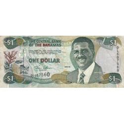 Bahamas - Pick 69 - 1 dollar - Série DL - 2001 - Etat : TB+