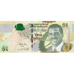 Bahamas - Pick 71_2 - 1 dollar - Série AF - 2008 - Etat : NEUF