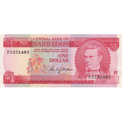 Barbade - Pick 29 - 1 dollar - 1973 - Etat : SUP