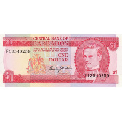 Barbade - Pick 29 - 1 dollar - 1973 - Etat : SPL