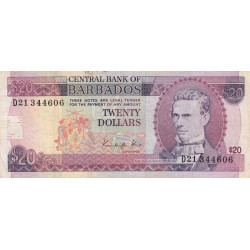 Barbade - Pick 39 - 10 dollar - 1988 - Etat : TTB-