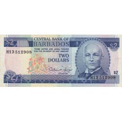 Barbade - Pick 42 - 2 dollars - 1993 - Etat : TTB+