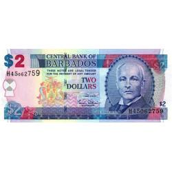 Barbade - Pick 66a - 2 dollars - 01/05/2007 - Etat : NEUF