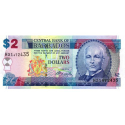 Barbade - Pick 66b - 2 dollars - 01/05/2007 (2009) - Etat : NEUF