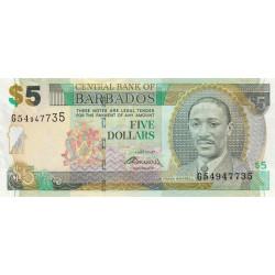 Barbade - Pick 67b - 5 dollars - 01/05/2007 (2009) - Etat : NEUF