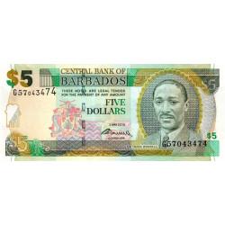 Barbade - Pick 67c - 5 dollars - 02/05/2012 - Etat : NEUF