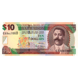 Barbade - Pick 68a - 10 dollars - 01/05/2007 - Etat : NEUF