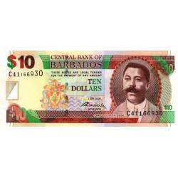 Barbade - Pick 68b - 10 dollars - 01/05/2007 (2009) - Etat : NEUF