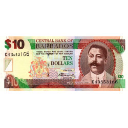 Barbade - Pick 68c - 10 dollars - 2012 - Etat : NEUF