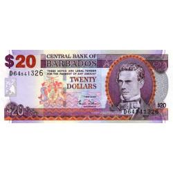 Barbade - Pick 69a - 20 dollars - 2007 - Etat : NEUF