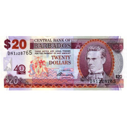 Barbade - Pick 72 - 20 dollars - 2012 - Etat : NEUF