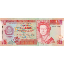 Belize - Pick 53a - 5 dollars - 1990 - Etat : NEUF
