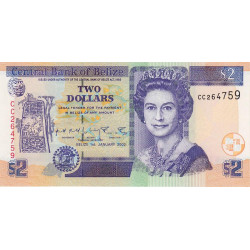 Belize - Pick 60b - 2 dollars - 01/01/2002 - Etat : NEUF