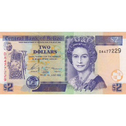 Belize - Pick 66a - 2 dollars - 2003 - Etat : SUP