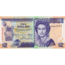 Belize - Pick 66e - 2 dollars - 01/11/2014 - Etat : NEUF