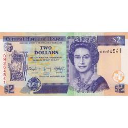 Belize - Pick 66e - 2 dollars - 2014 - Etat : NEUF