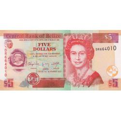 Belize - Pick 67e - 5 dollars - 2011 - Etat : NEUF