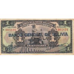 Bolivie - Pick 112_2 - 1 boliviano - 11/05/1911 (1929) - Série V1 -  Etat : TB+