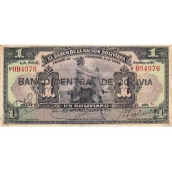 Bolivie - Pick 112_3 - 1 boliviano - 11/05/1911 (1929) - Etat : TB+