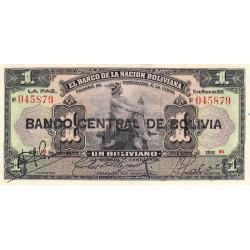 Bolivie - Pick 112_3 - 1 boliviano - 11/05/1911 (1929) - Etat : SUP