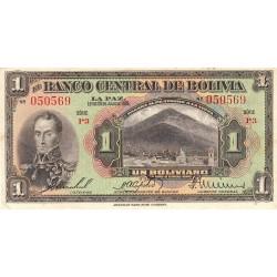 Bolivie - Pick 118_4 - 1 boliviano - Loi 1928 (1939) - Série P3 - Etat : TTB