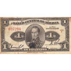 Bolivie - Pick 119_2 - 1 boliviano - Loi 1928 - Etat : TB+