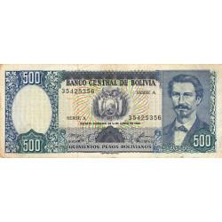 Bolivie - Pick 165a2 - 500 pesos bolivianos - Loi 1981 (1982) - Série A - Etat : TB+