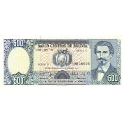 Bolivie - Pick 166a - 500 pesos bolivianos - Loi 1981 (1983) - Série C - Etat : SPL