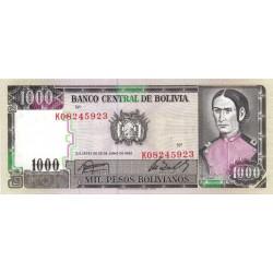 Bolivie - Pick 167_3 - 1'000 pesos bolivianos - Loi 1982 - Etat : NEUF