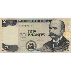 Bolivie - Pick 202b - 2 bolivianos - Loi 1986 (1990) - Etat : NEUF