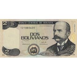 Bolivie - Pick 202b - 2 bolivianos - Loi 1986 (1990) - Série B - Etat : NEUF
