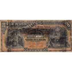 Brésil - Pick A263 - 20'000 reis - 1885 - Etat : B-