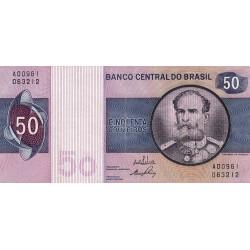 Brésil - Pick 194a - 50 cruzeiros - 1970 - Etat : TTB+
